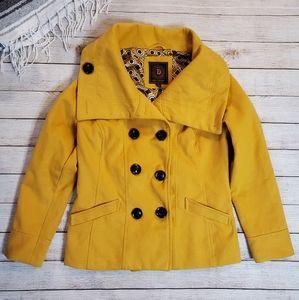Dollhouse Peacoat Style Coat Yellow Size XL